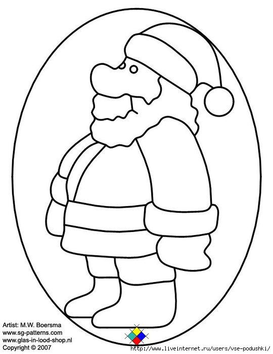 christmas glass pattern 053 Christmas man (540x700, 109Kb)