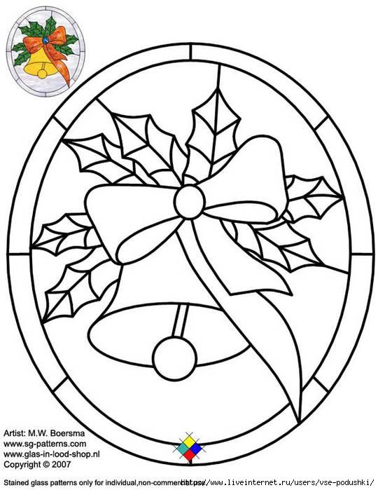 christmas glass pattern 054 Christmas (540x700, 160Kb)