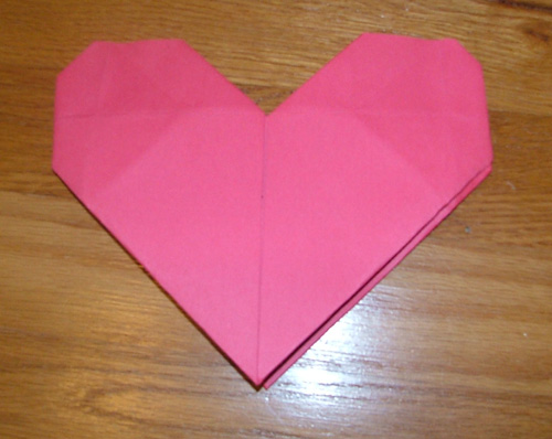 11 фев 2012 Как сделать простое оригами сердце из бумаги (схема) Валентина сложить из бумаги простое оригами сердце...