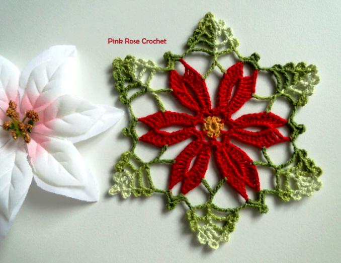 Crochet Chhristmas Flower Motif Rozalija (678x522, 765Kb)