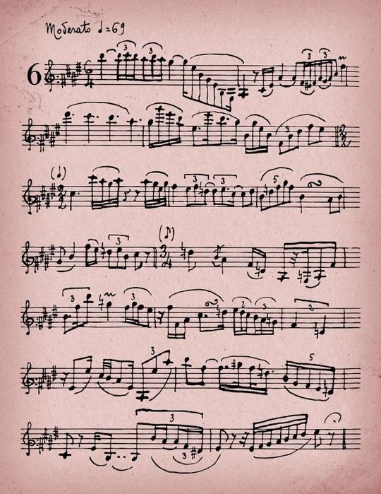 Vintage Itaian Music Rose sheet Take Your Picure (540x700, 339Kb)