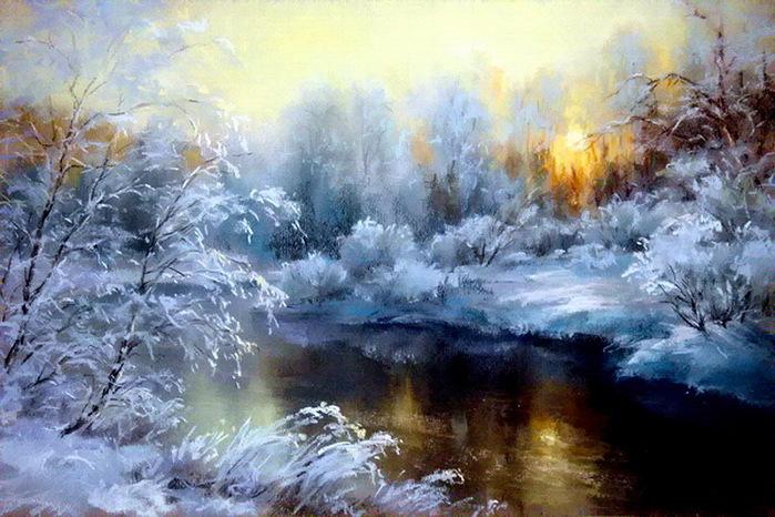 Зимнее утро Михаил Бондаренко.