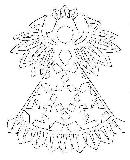 Шаблоны рождественского ангела из бумаги