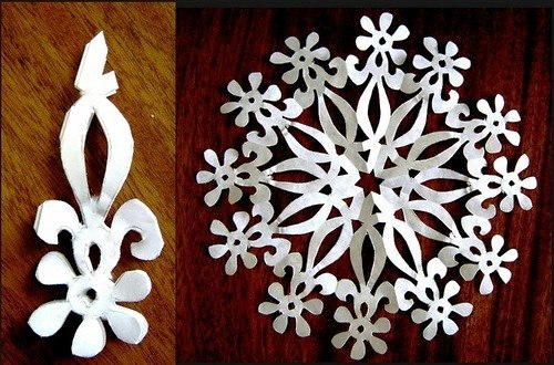 Схемы для вырезания снежинок с животными и цветами. tinary.  Цитата сообщения.