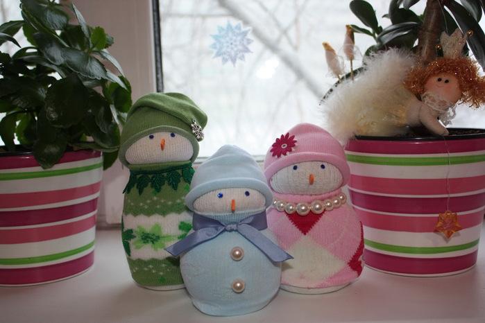 Сделать своими руками снеговика фото