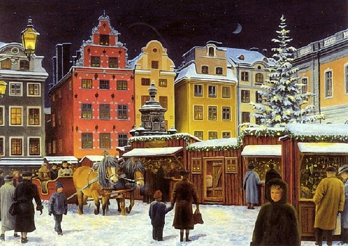 Jan Bergerlind (Swedish)christmas-market (700x496, 324Kb)
