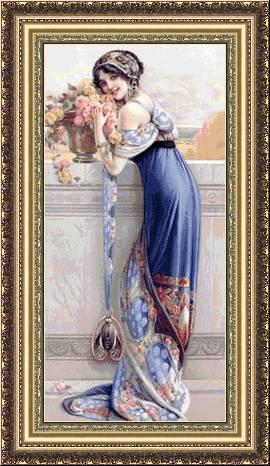 Момиче с рози (270x466, 43Kb)