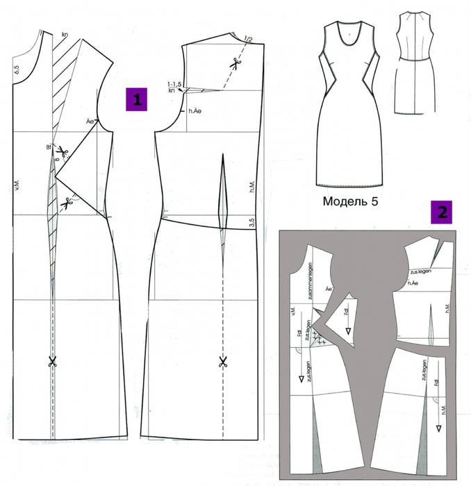 Как сделать чертёж платья 680