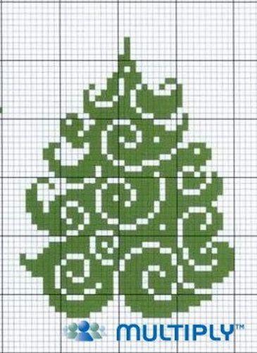Вышивка елки крестиком
