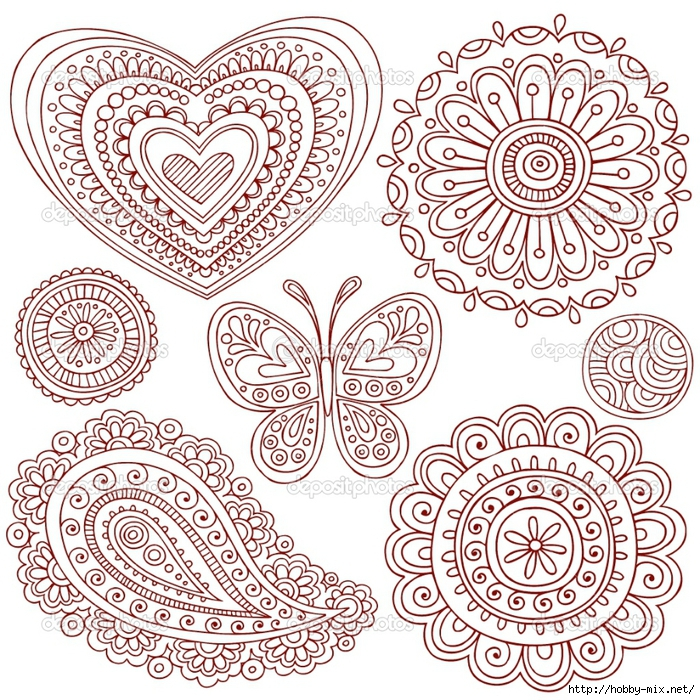 depositphotos_2764703-Henna-Mehndi-Paisley-Doodle-Vector-Design-Elements (700x700, 575Kb)