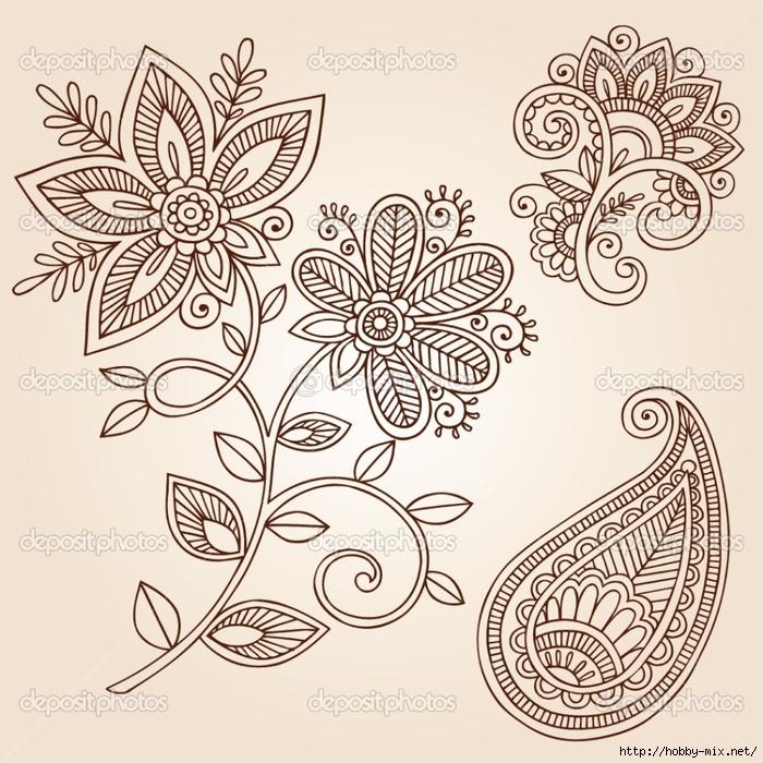 depositphotos_8628796-Henna-Flowers-and-Paisley-Doodles-Vector-Design-Elements (700x700, 382Kb)