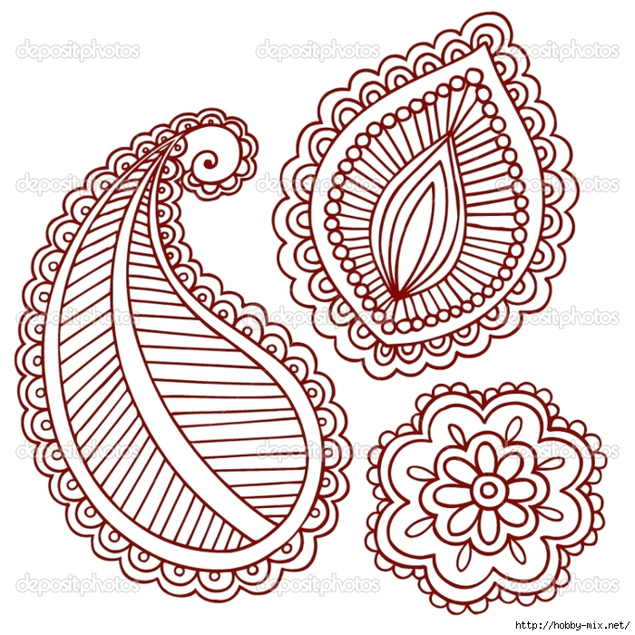 depositphotos_9127219-Henna-Tattoo-Paisley-Flower-Doodle-Vector-Design-Elements-Set (700x700, 427Kb)