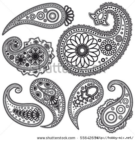 stock-vector-eps-vintage-paisley-patterns-for-design-55642654 (450x470, 174Kb)