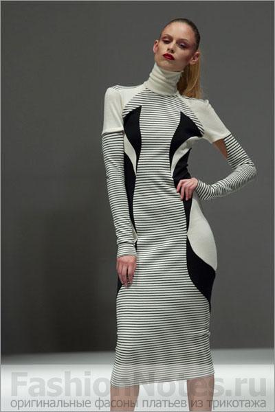 Идея для платья из трикотажа
