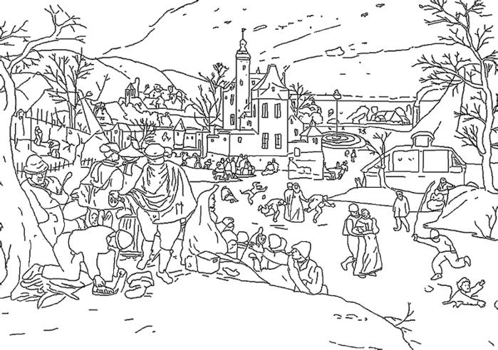 Новогодняя овечка раскраска