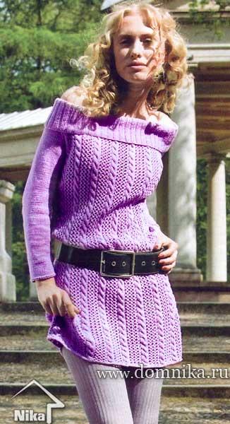 Схема вязания платья-туники