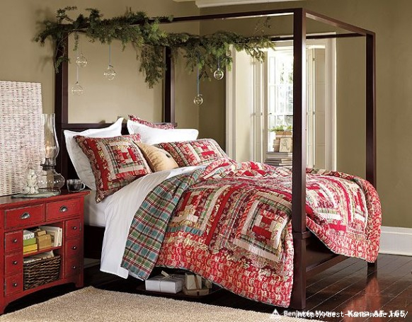 Cute-Christmas-Bedroom-Decorating-Ideas (582x455, 207Kb)