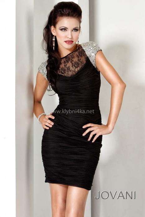 Платья вечерние короткие черное