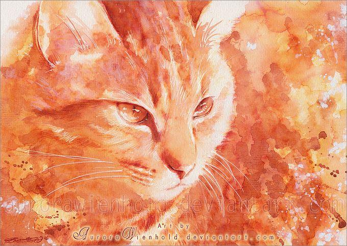 кошки в картинах Aurora Wienhold (680x482, 105Kb)