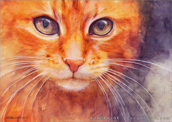 кошки в картинах Aurora Wienhold 4 (680x483, 103Kb)