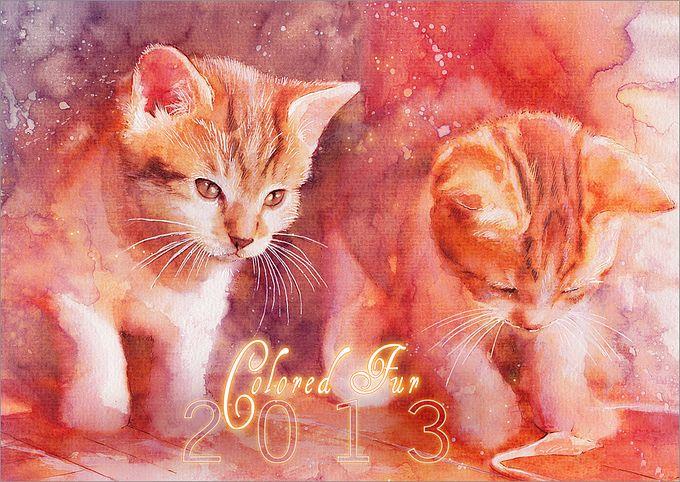 кошки в картинах Aurora Wienhold 6 (680x482, 108Kb)