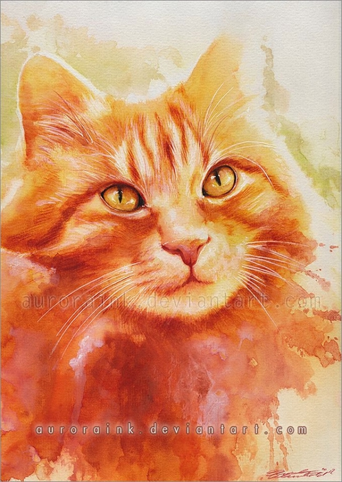 кошки в картинах Aurora Wienhold 8 (497x700, 291Kb)