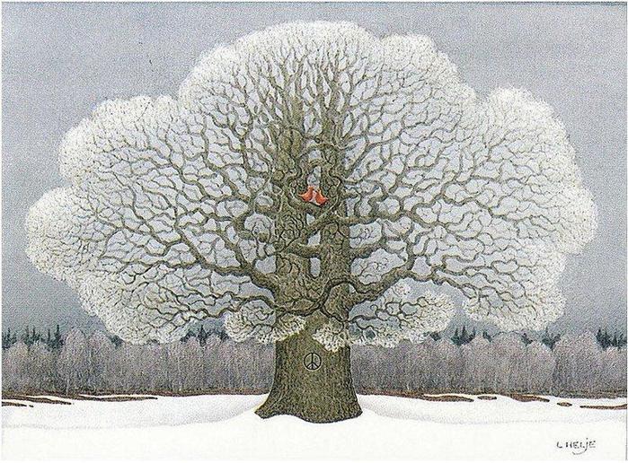 Гномы зимой картинки