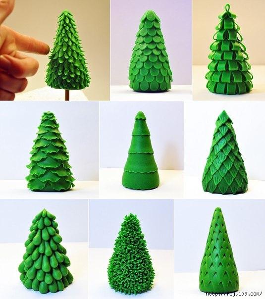 Своими руками елка из пластилина