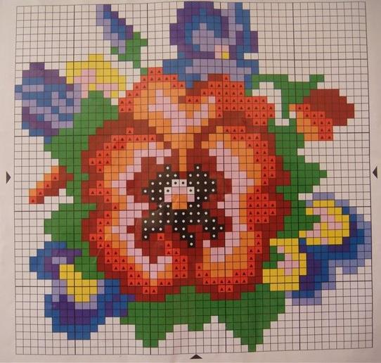 Схемы вышивки цветов из бисера