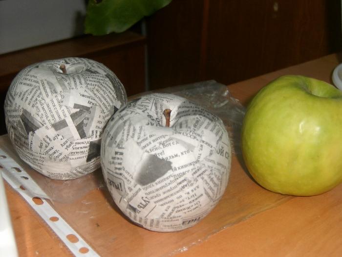Как сделать большое яблоко 800