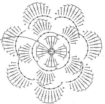 вязание-крючком-цветов-схемы
