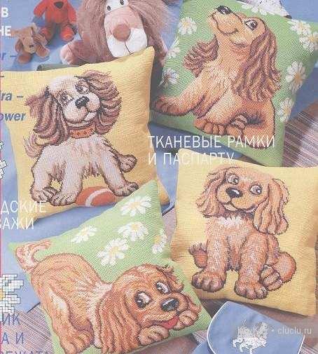 Вышивка крестиком подушек — собачки/1356170588_a (454x505, 62Kb)