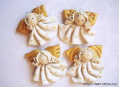 Ангелочки из солёного теста