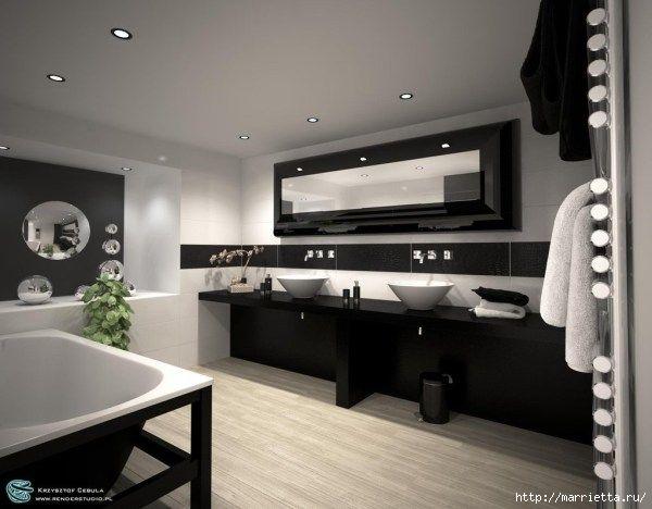 Ванная фотогалерея 394 черная ванная
