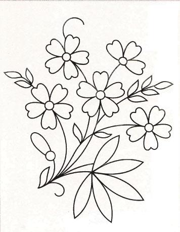 Схемы вышивки гладью цветы и цветочные композиции.