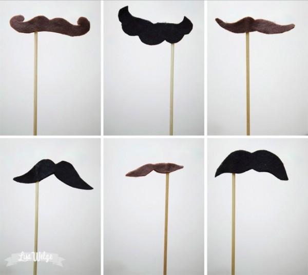 Как сделать усы на палочке шаблоны видео