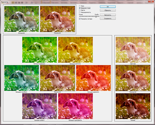 Выбираем вариации цвета в Photoshop CS6. Автоматическая цветокоррекция изображений