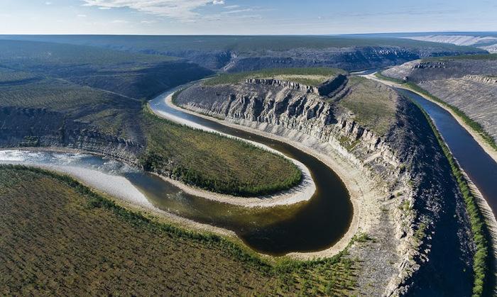 Река Котуйкан, Красноярский край России. (700x419, 155Kb)