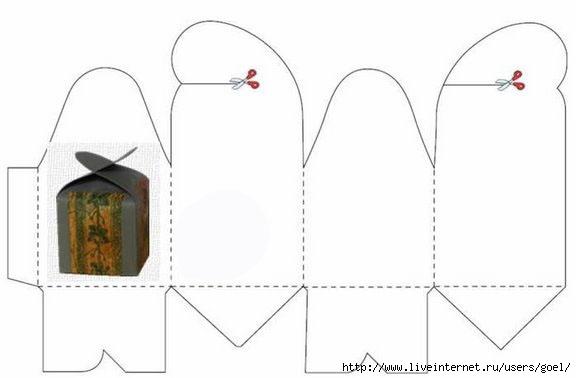Праздничная упаковка своими руками из бумаги схемы