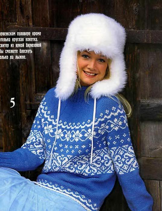 свитер-с-норвежским-узором-скруглой-кокеткой (537x700, 77Kb)