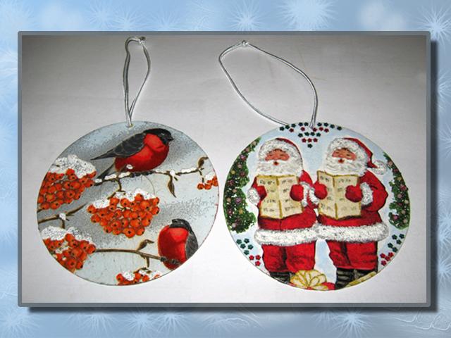 Новогодние игрушки своими руками на диске