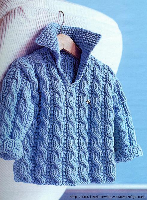 Вязаный свитер для малыша 3