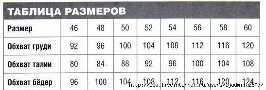 Вязание размер 48-50