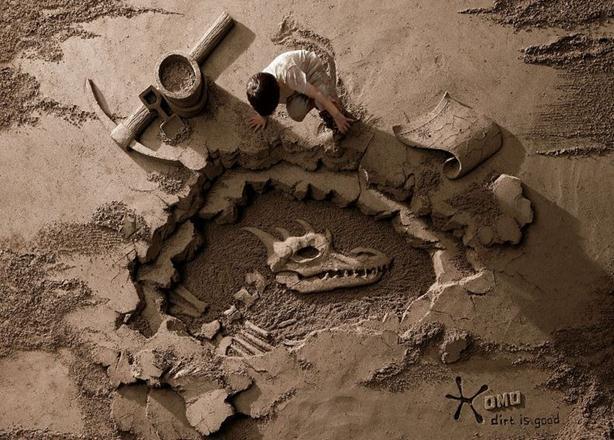 Джо Хэн Тань. Рекламные скульптуры из песка. Фотографии работ чемпиона мира по лепке из песка