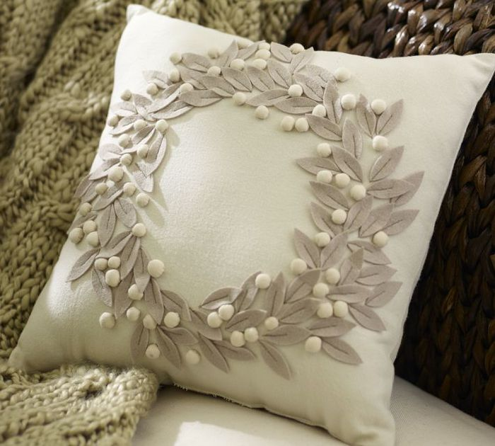 Декоративная подушка с фото своими руками