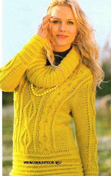 Пуловер Из Тонких Ниток