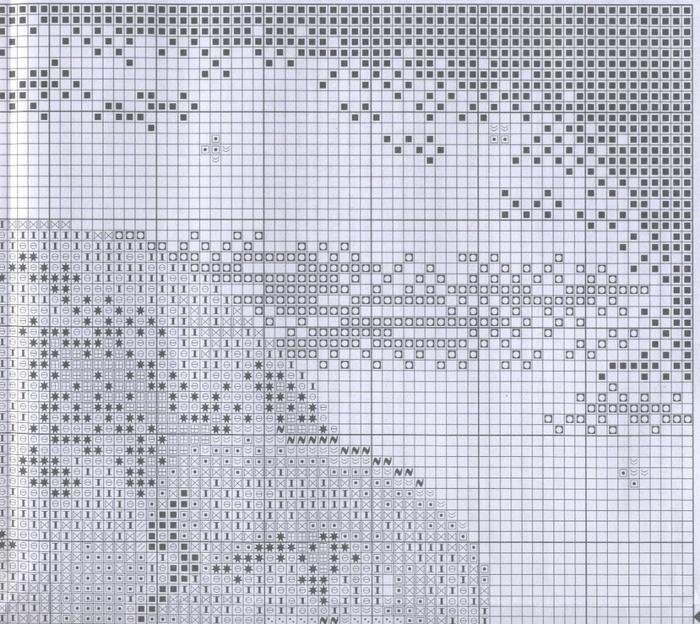 вышивка крестом схема нежданный гость