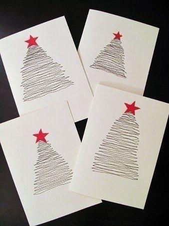 Идеи для новогодних открыток своими руками