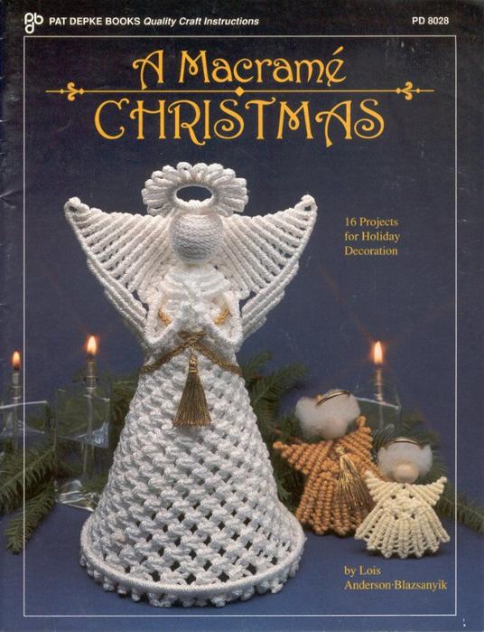0 A Macrame Christmas макрамэ ангелы (536x700, 430Kb)