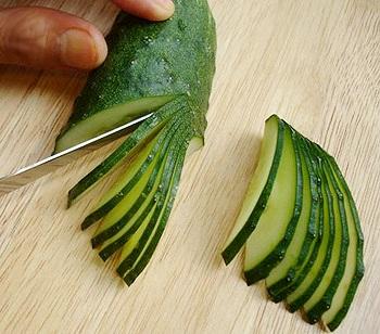 Украшения из овощей пошагово фото